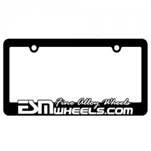 ESM Wheels License Plate Frame